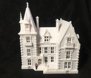 """Gold Rush Bay Miniature """"Crystal Manor"""" French Mansion 1:87 (HO Scale) House"""