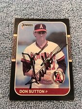HOF Don Sutton Autograph Signed Donruss 1987 Baseball Card FREE FAST SHIPPING!