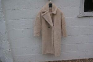 Long Over Sized Teddy Bear Coat Top Shop Size 10