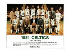 Boston Globe Vintage 1981 Boston Celtics Team Photo NBA Champions Larry Bird