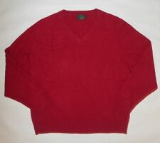 CLUB ROOM WOMENS SWEATER CASHMERE RED V NECK LONG SLEEVES SIZE LARGE
