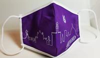 Mascherina Firenze - Panorama Viola- Mascherine Made in Italy - 100% Cotone