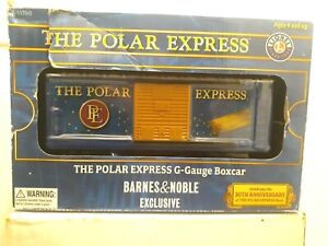LIONEL THE POLAR EXPRESS BOX CAR NEW IN BOX G SCALE, BARNES AND NOBLE EXCLUSIVE
