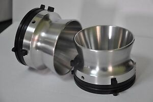 New pair of high quality nab hub adapters polished aluminium Revox etc