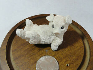 Stone Critter *LITTLE PIGGY EXCERISING* 2x2~Vintage~Cute~Pig/hog~collectable