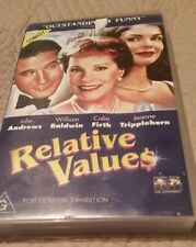 RELATIVE VALUES -  JULIE ANDREWS,  WILLIAM BALDWIN - VHS VIDEO
