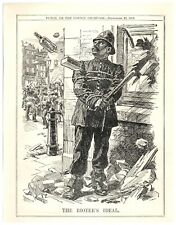 1913 Dublin Lock-Out Rioters Ideal, Bound Police Hit By Bricks Punch Cartoon