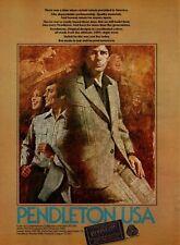 1975 Pendleton Portland Oregon Plaid Tweed Wool Shirt Slacks Jacket Print Ad