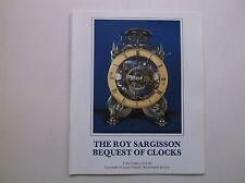 ROY SARGISSON CLOCKS HOROLOGY LONGCASE SPRING DIALS CATALOGUE