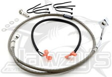 Braided Rear Brake Line Kit Stainless   Russell R08839DS