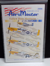 AeroMaster 1/48 Model Decal Set WWII US Mustang P-51 Yellow Nose 361st FG Pt.II