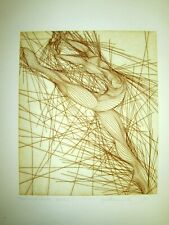 Guillaume Azoulay GALINA Original Etching Signed in Pencil