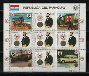 RED CROSS,DUNANT, FOUNDER OF RED CROSS-1985-PARAGUAY-STAMPS-