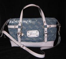 GUESS Sheer Bliss Bag Sac a Main Bandouliere Bleu Daim Coeur Charme Monogramme