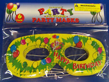 Happy Birthday Carnival Party Favor Masquerade Paper Eye Masks - Yellow Clown