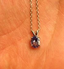 Gorgeous Genuine Tanzanite Oval Pendant Necklace With Chain Retail $399!!