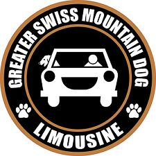 "Limousine Greater Swiss Mountain Dog 5"" Dog Sticker"