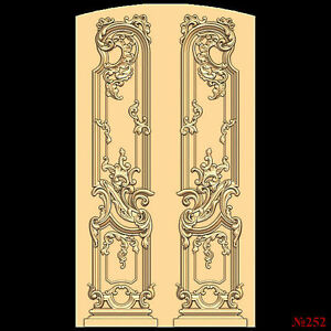 (252) STL Model Door for CNC Router 3D Printer  Artcam Aspire Bas Relief