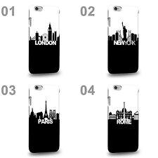 CASE88 Design Art Black And White Skyline Series Hard Phone Case Cover