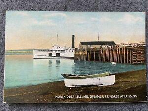 Steamer J.T. Morse, North Deer Isle, Maine Vintage Postcard
