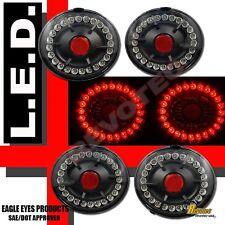2005-2012 Chevy Corvette Z06 Black LED Tail Lights 4pcs Set