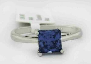 AAA 0.86 Cts TANZANITE SOLITAIRE RING 10k WHITE GOLD *** New With Tag ***