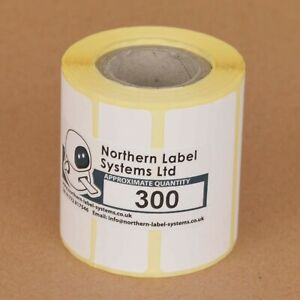 50mm x 25mm WHITE PAPER Direct Thermal Labels PUQU Q00 and Q20 Label Printers