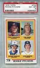 1978 Topps Jack Morris PSA 8  Rookie Card #703  HOF 2018 Wow Nice  x824