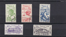 GREENLAND 1935 Thule Local Post 1-5 Used lightly cancelled Complete set