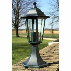 vidaXL Lampe d'Extérieur Rétro Noir Fonte 41 cm Lampadaire Éclairage de Jardin