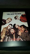 Village People Rare Original Rca Records Welcome Promo Poster Ad Framed!