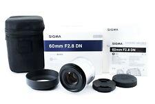 Sigma DN 60mm F/2.8 AF Lens Black Micro Four Thirds Japan [Near Mint] #531896A