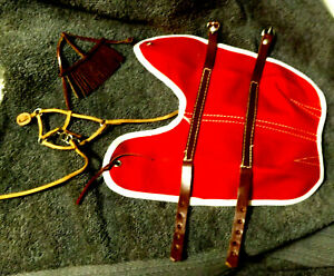 Breyer New * Red Blanket ,Leather Bridle,Lead Traditional Model Horse 1980s