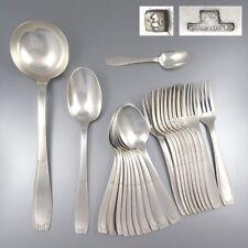 Vintage French Silver Plate Flatware Set Christofle Cirta Saïgon Art Deco 23 pcs