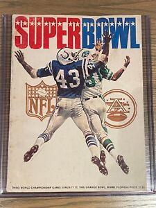 Super Bowl III Jets vs. Colts Official Stadium Program
