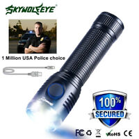 SkyWolfEye T6 Outdoor Military LED Rechargeable 18650 Flashlight Torch Lamp