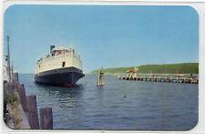 Port Jefferson Bridgeport Ferry Ship Long Island Sound Connecticut postcard
