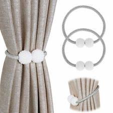 A Pair 2Pcs Gray Magnetic Curtain Tie Backs Curtain Holdbacks Buckle Clips UK