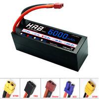 HRB 4S 14.8V 6000mAh RC Lipo Battery 50C 100C Hard Case for Traxxas X-maxx Car