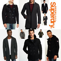 New Mens Superdry Winter Warm Wool Snow Coats Jackets Luxury Duffle Size XXS-XXL