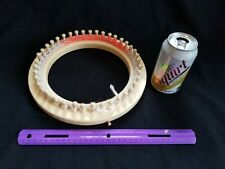 """Used 9"""" Loom 41-Pegs Round Wooden Knitting Loom Removable Pegs"""