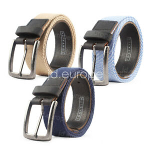 Men's Casual Belts Waistband Canvas Web Belt Fashion With Anti Nickel Buckle UK