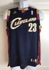RARE LeBron James Cleveland Cavaliers Blue Swingman Sewn On Jersey Size L Kids