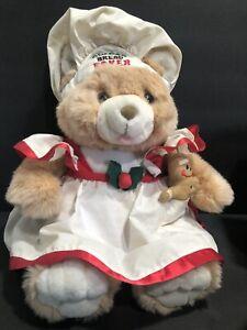 """GINGERBREAD BAKER BEAR PLUSH 17"""" COOKIE BAKER PLUSH BEAR CHRISTMAS"""