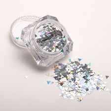 Women Pro Holographic Laser Glitter Paillette Triangle Nail Sequins Decoration