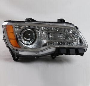 For 11-14 Chrysler 300 LED DRL Projector Headlight Chrome Passenger Right Used