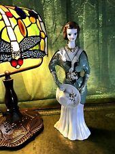 RARE Vintage Art Deco Porcelain Lustre Figurine Lady with Hat Stamped