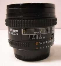 Nikon NIKKOR 20mm f/2.8 AF Lens with RPS UV Filter - Vintage (C12)