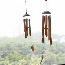 Wood Handmade Bamboo Wind Big Bell Tube Wind Chime Wall Hanging Home Decorations