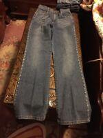❤️Isabel Jeans Sz 6 Gorgeous Rhinestone Studded Pockets And Side Seams EUC